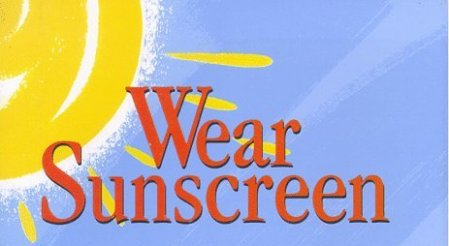 essay by mary schmich Beiträge über mary schmich von heidihillsblog everybody's free (to wear sunscreen) ladies and gentlemen of the class of '97: wear sunscreen.